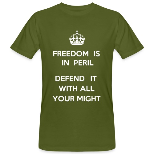 keep calm? freedom is in peril! - Männer Bio-T-Shirt