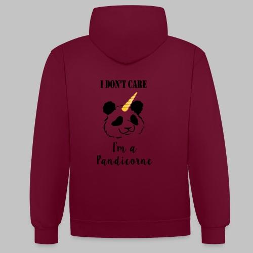 Hoodie PANDICORNE - Contrast Colour Hoodie