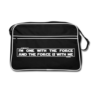 I am one with the Force and the Force is with me - borsa Guerre Stellari - Retro Bag
