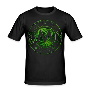 T-Shirt MORTIK Roma Logo Weed Edition - Tee shirt près du corps Homme