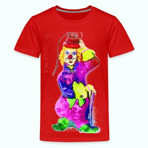 clown gemalt - Teenage Premium T-Shirt