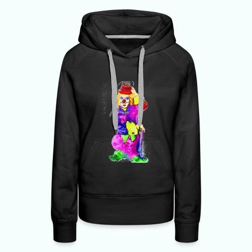 clown gemalt - Women's Premium Hoodie