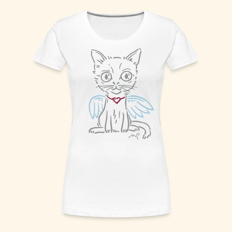 Ich Katze - Ich Engel - schnurrrr - Frauen Premium T-Shirt