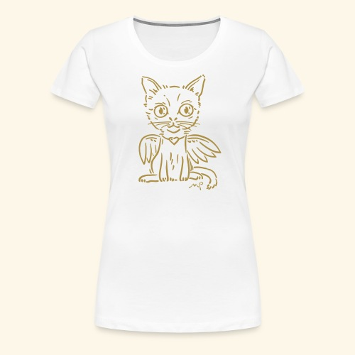 Ich Katze - ich Engel - schnurrrr - goldig - Frauen Premium T-Shirt