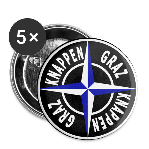 KG Button 17 - Buttons klein 25 mm (5er Pack)