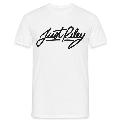 Signature Tee (White)- Just Riley - Men's T-Shirt