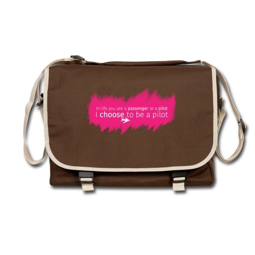 In life you are a passenger or a pilot. I choose to be a pilot. - Shoulder Bag