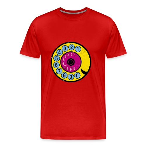 Retro Telefon Wählscheibe Vintage Grunge Pop-Art - Männer Premium T-Shirt