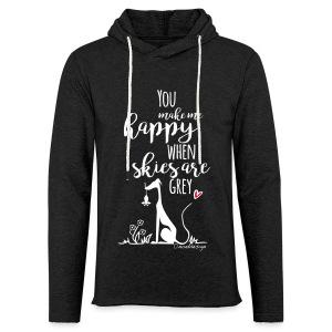 You make me happy... - Leichtes Kapuzensweatshirt Unisex