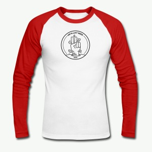 Basic Plant Geek two-tone sleeves - Men's Long Sleeve Baseball T-Shirt