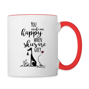 You make me happy... - Tasse zweifarbig
