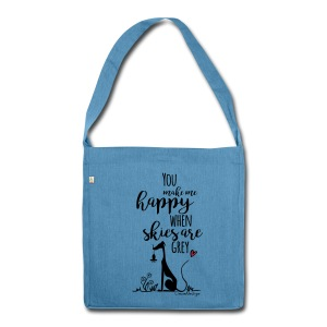 You make me happy... - Schultertasche aus Recycling-Material