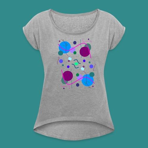 Fröhliche Grafik - Frauen T-Shirt mit gerollten Ärmeln