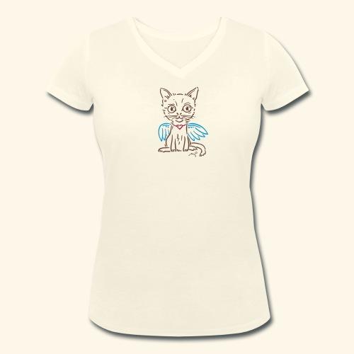 Ich Kätzchen bin ein Engelchen! - Frauen Bio-T-Shirt mit V-Ausschnitt von Stanley & Stella