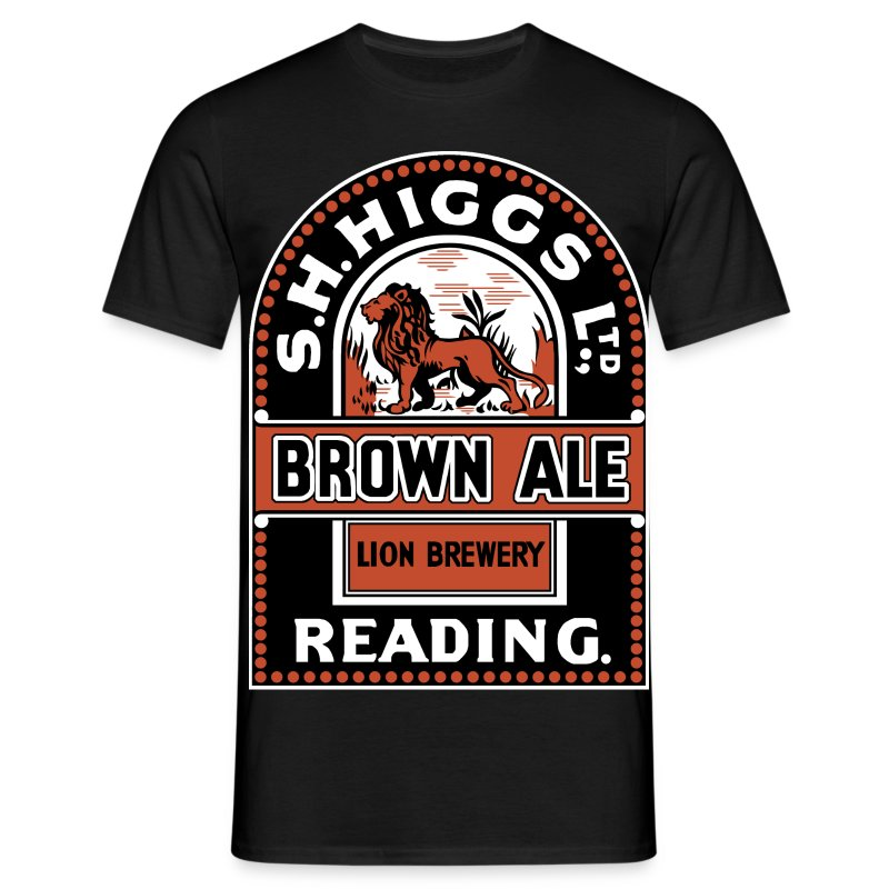 Higgs Lions' Brewery, Reading (Front) - Men's T-Shirt