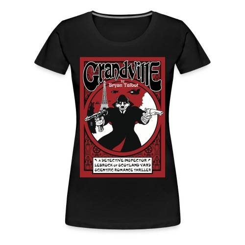Grandville ladies black t-shirt - Women's Premium T-Shirt