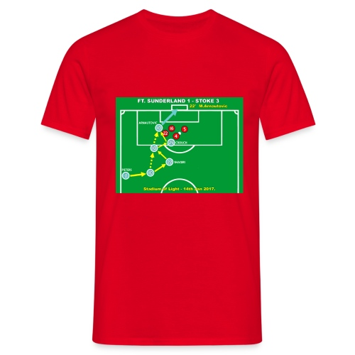 Arnautovic Goal. Mens Red T Shirt. - Men's T-Shirt