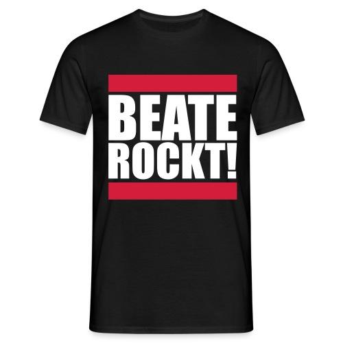 Oldschool Beate Rockt! (Schwarz) - Männer T-Shirt