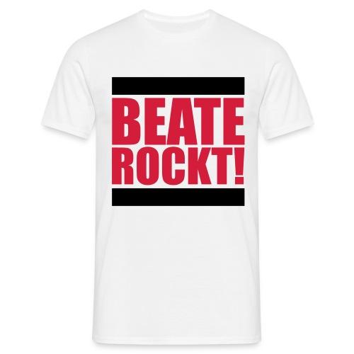 Oldschool Beate Rockt! (Weiß) - Männer T-Shirt