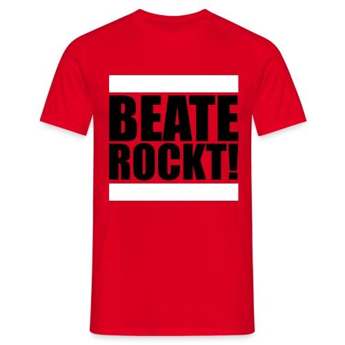 Oldschool Beate Rockt! (Rot) - Männer T-Shirt