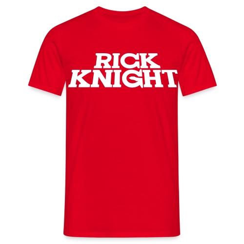 Rick Knight (Rot) - Männer T-Shirt