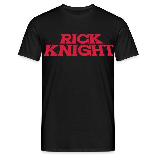 Rick Knight (Schwarz) - Männer T-Shirt