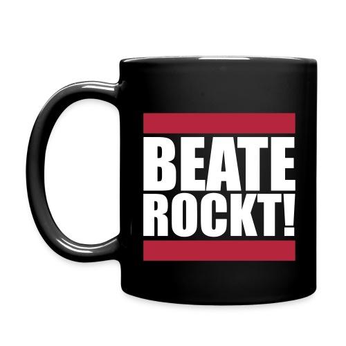 Oldschool Beate Rockt! (Schwarz) - Tasse einfarbig