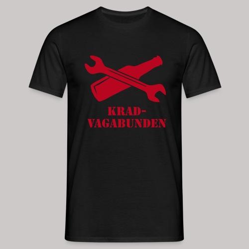 SCHRAUBENSCHLÜSSEL & PULLE - T-Shirt Männer (roter Aufdruck) - Männer T-Shirt