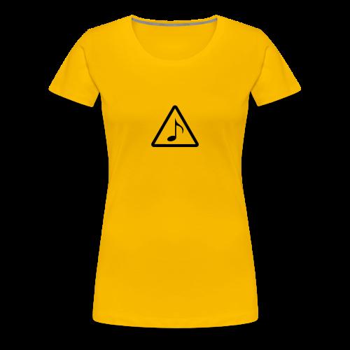 Phänshirt v1 (w,gelb) - Frauen Premium T-Shirt