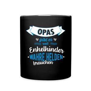 Opa - wahrer Held Tassen & Zubehör - Tasse einfarbig