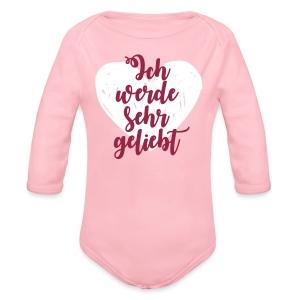 Ich werde sehr geliebt Baby Bodys - Baby Bio-Langarm-Body
