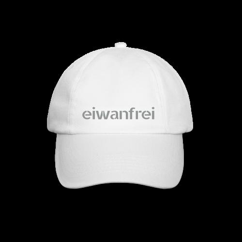 Basball Cap eiwanfrei - silbergrau beflockt - Baseballkappe