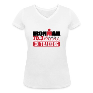IRONMAN 70.3 Portugal In Training Women's V-neck - Women's Organic V-Neck T-Shirt by Stanley & Stella