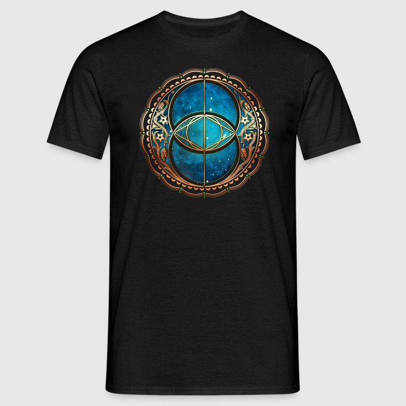 Vesica Piscis, Chalice Well, Avalon, Galaxy, Space Tee shirts - T-shirt Homme