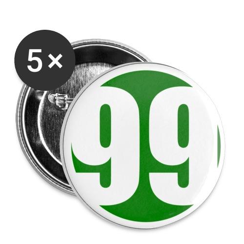 Fem-pack knappar - Mellanstora knappar 32 mm