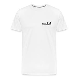 Premium-T-shirt herr, svart logga på bröstet - Premium-T-shirt herr