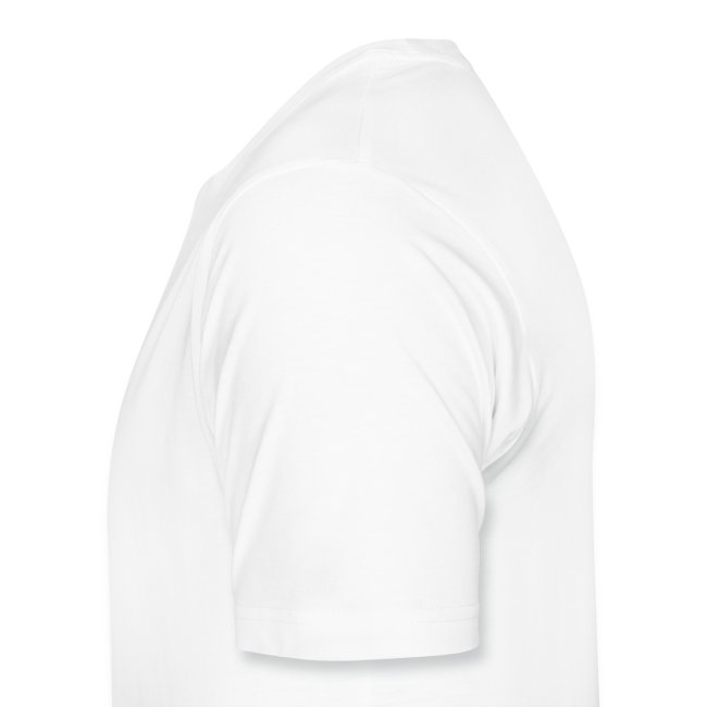 Premium-T-shirt herr, svart logga på bröstet
