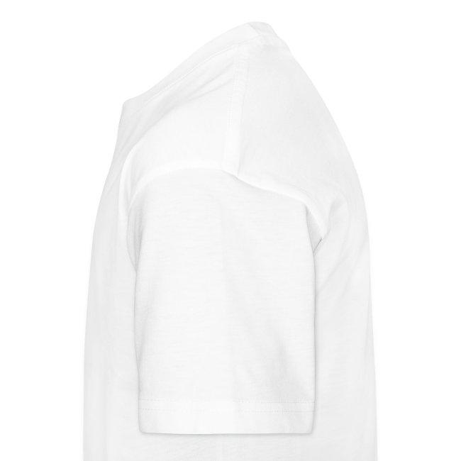 Premium-T-shirt barn, svart logga på bröstet