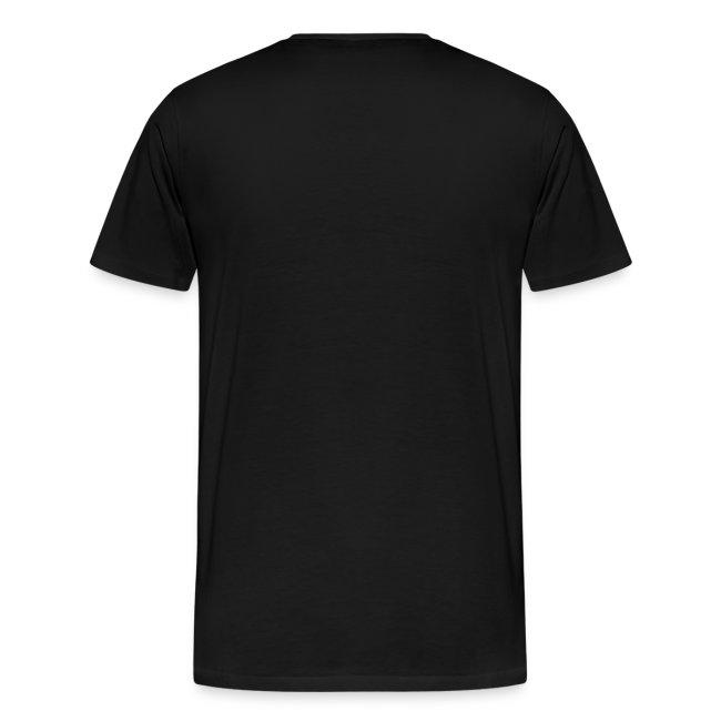 Premium-T-shirt herr, vit logga på bröstet
