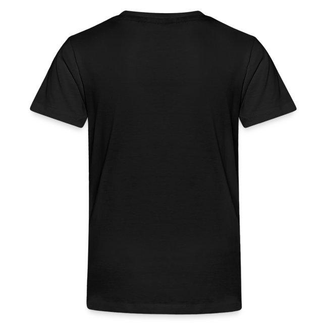 Premium-T-shirt tonåring, vit logga på bröstet