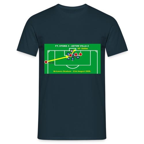 Sidibe Goal. Mens Navy T Shirt. - Men's T-Shirt
