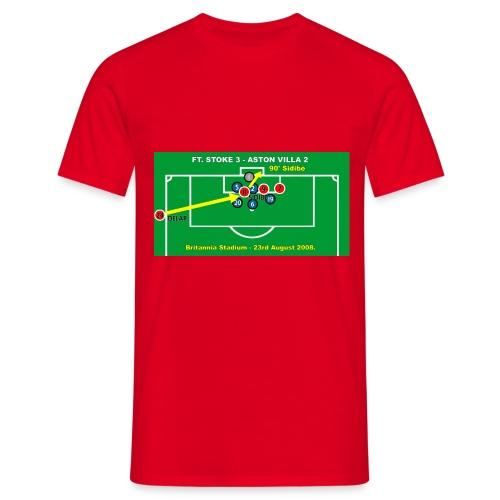 Sidibe Goal. Mens Red T Shirt. - Men's T-Shirt
