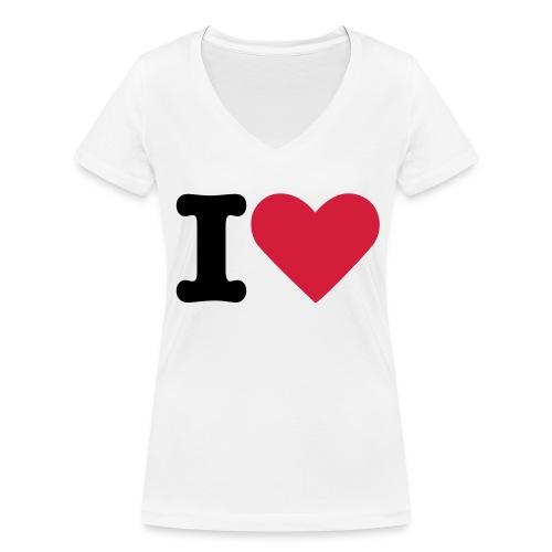 T-Shirt mit V-Ausschnitt - Love - Frauen Bio-T-Shirt mit V-Ausschnitt von Stanley & Stella