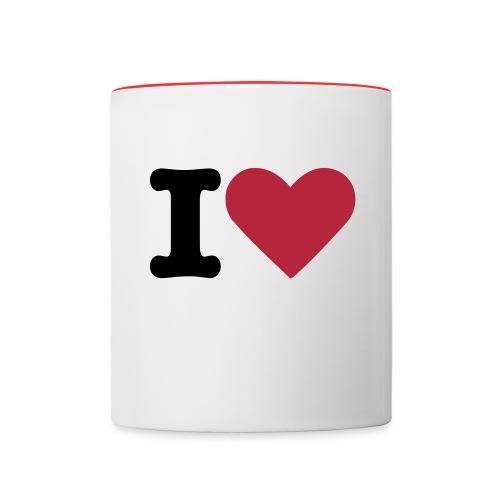 Tasse - Love - Tasse zweifarbig