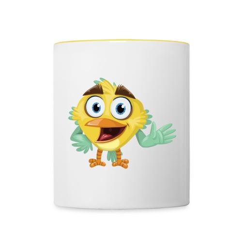 Lachendes Tier Tasse - Natur Kollektion - Tasse zweifarbig