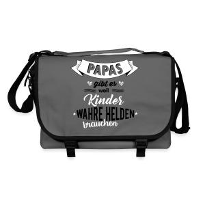 Papa - wahrer Held Taschen & Rucksäcke - Umhängetasche