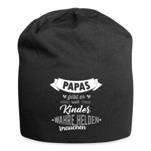 Papa - wahrer Held Caps & Mützen - Jersey-Beanie