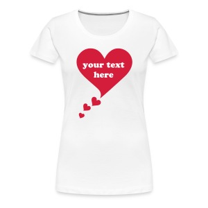 Bulle coeur, speech bubble, je t'aime, I love you Tee shirts - T-shirt Premium Femme