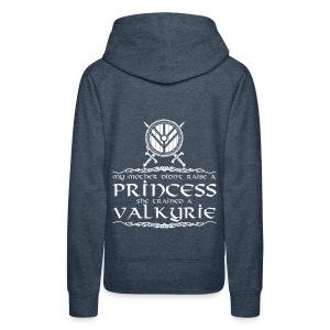 Princesa y valkiria - Sudadera con capucha premium para mujer