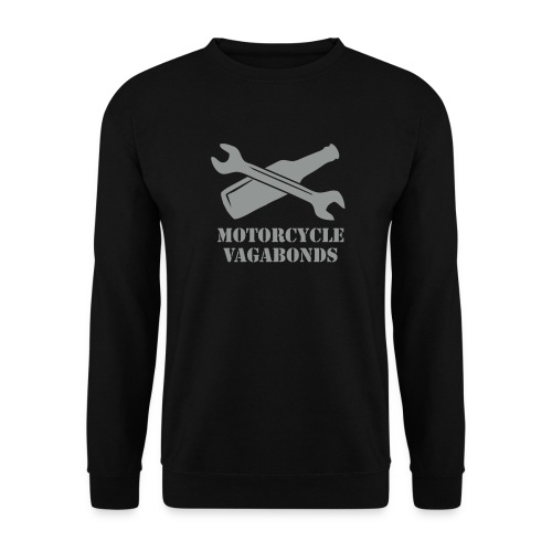 sweatshirt - motorcycle vagabonds - grey print - Men's Sweatshirt